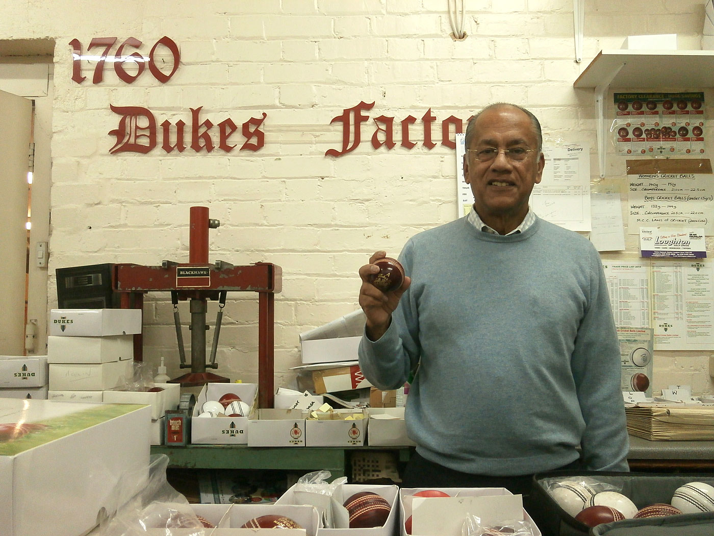 Dilip Jajodia of Dukes, who is trying to break Kookaburra's near monopoly on the limited-overs ball market