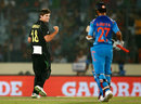James Muirhead celebrates the wicket of Virat Kohli, Australia v India, World T20, Group 2, Mirpur, March 30, 2014