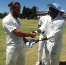 Kyle Bowie is presented his cap on first-class debut for Matabeleland Tuskers,  Mashonaland Eagles v Matabeleland Tuskers, Logan Cup, Harare, 1st day November 25 2015