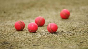 Pink balls on the pitch at New Zealand's training session