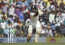 Cheteshwar Pujara drives through the off side, India v South Africa, 3rd Test, Nagpur, 2nd day, November 26, 2015