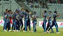 Sachithra Senanayake celebrates the catch that won the match, Sylhet Superstars v Rangpur Riders, Bangladesh Premier League, Mirpur, November 26, 2015