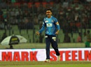 Nasir Hossain roars after taking a wicket, Chittagong Vikings v Dhaka Dynamites, BPL 2015-16, Mirpur, November 26, 2015
