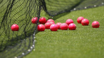 Pink balls at the practice nets ahead of the day-night Test