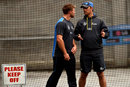 Shane Bond talks to Corey Anderson, World Cup 2015, Melbourne, March 27, 2015