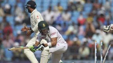Faf du Plessis was bowled by Amit Mishra