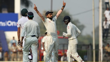 Virat Kohli celebrates his first series win at home as Test captain