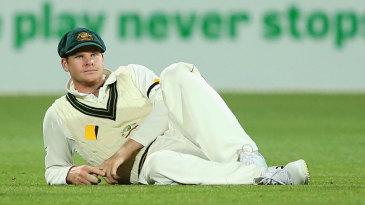 Steven Smith put down two chances in the slips