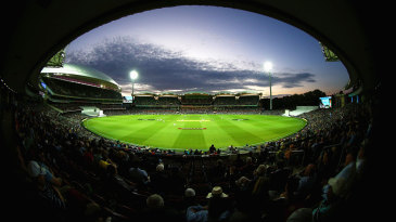 A view of the day-night Test at the Adelaide Oval