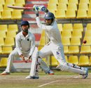 Sayan Mondal drives during his knock of 87, Assam v Bengal, Ranji Trophy 2015-16, Group A, Guwahati, 1st day, December 1, 2015