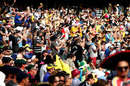 Fans enjoy themselves at the Adelaide Oval, Australia v New Zealand, 3rd Test, Adelaide, 2nd day, November 28, 2015
