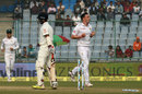 Kyle Abbott had Cheteshwar Pujara's stumps removed, India v South Africa, 4th Test, 1st day, Delhi, December 3, 2015