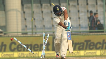 Rohit Sharma came in at No. 3 but his luck didn't quite change