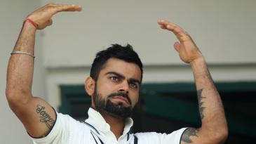 Virat Kohli declared India's second innings at 267