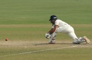 Wriddhiman Saha goes low for a sweep, India v South Africa, 4th Test, Delhi, 4th day, December 6, 2015