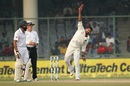 M Vijay rolls his arm over, India v South Africa, 4th Test, Delhi, 4th day, December 6, 2015