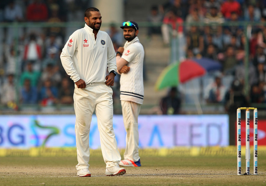 Image result for dhawan bowling
