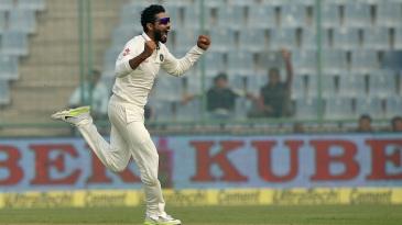 Ravindra Jadeja broke through with the second new ball