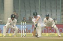 Dane Vilas defends on the front foot, India v South Africa, 4th Test, Delhi, 5th day, December 7, 2015