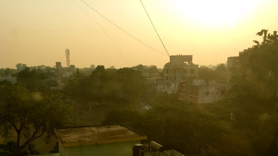 The sun rises over Nagpur