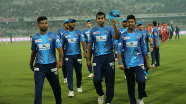 Mosharraf Hossain leads his team off the field