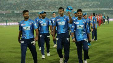 Mosharraf Hossain leads his team off the field