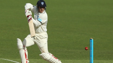 Nic Maddinson pushes to the off side