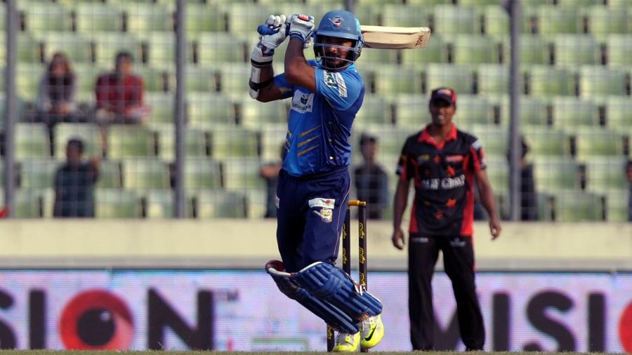 Kumar Sangakkara struck 48 off 35 balls