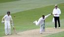 Kane Williamson watches the debutant Udara Jayasundera bowl, New Zealand v Sri Lanka, 1st Test, Dunedin, 1st day, December 10, 2015