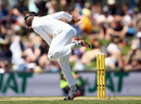 Jomel Warrican in his delivery stride, Australia v West Indies, 1st Test, Hobart, 1st day, December 10, 2015