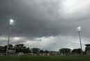 Dark clouds gather over the Bellerive Oval, Australia v West Indies, 1st Test, Hobart, 2nd day, December 11, 2015