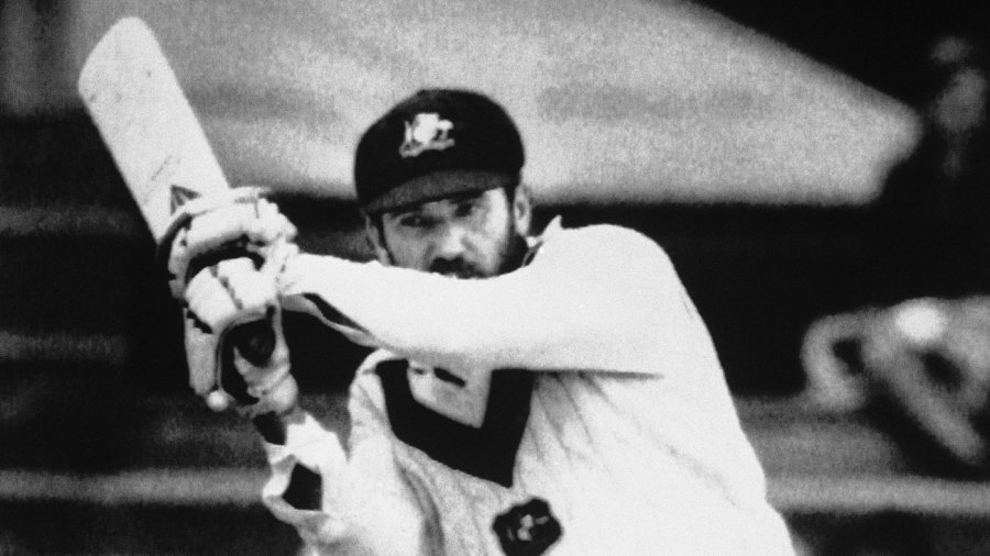 Allan Border on his way to a century