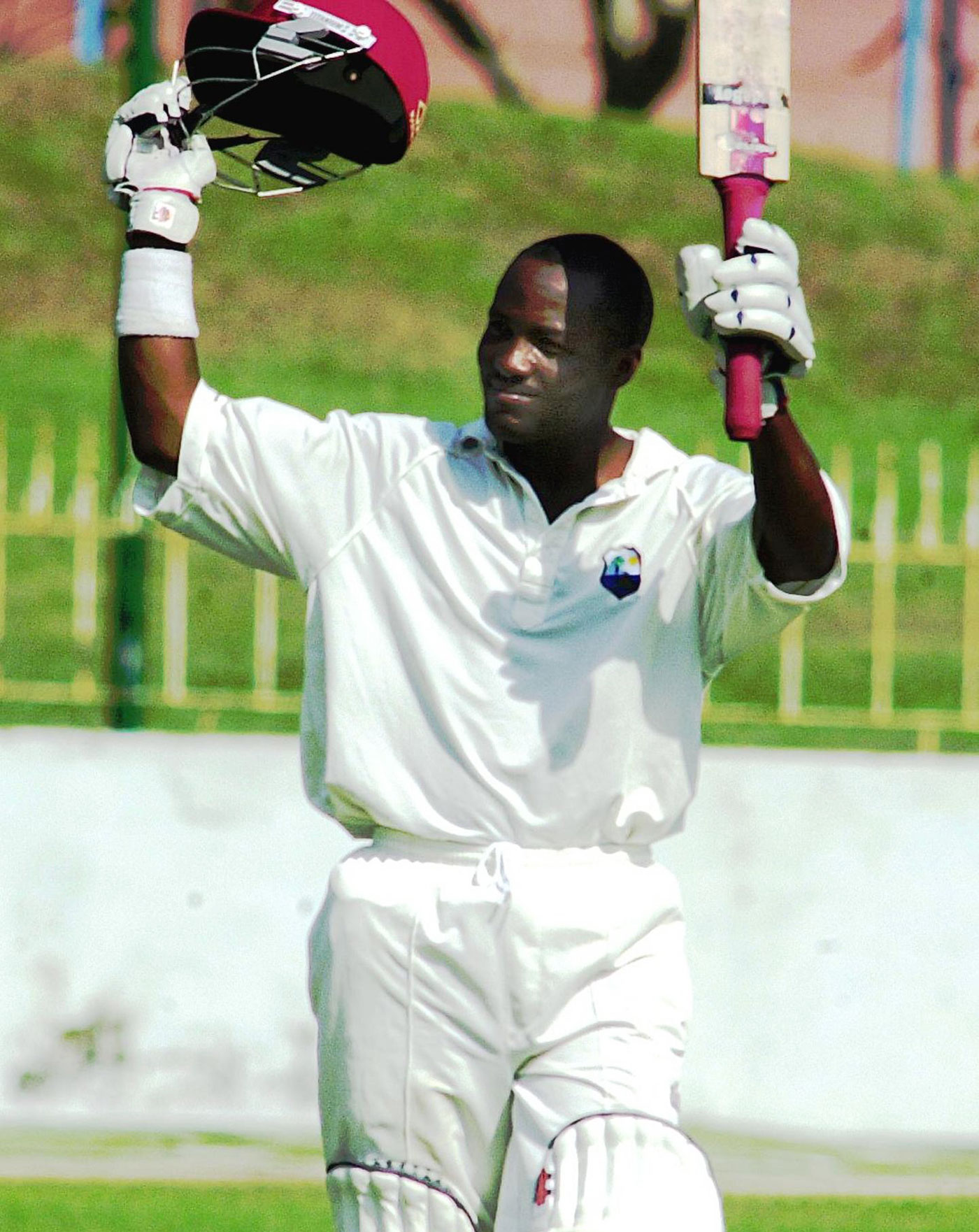Solitary splendour: Brian Lara's Colombo effort was masterful but came in a heavy defeat