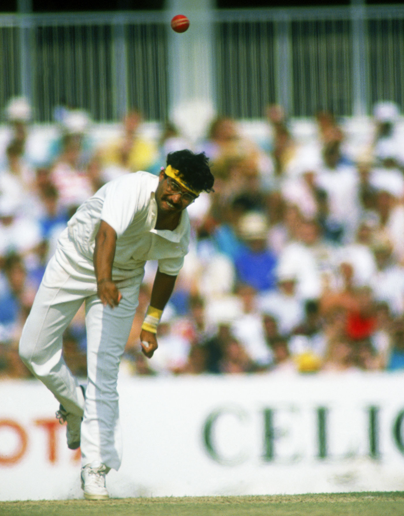 Maiden miracle: Narendra Hirwani took an astonishing 16 wickets on debut