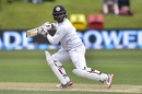 Kithuruwan Vithanage watches his edge being caught, New Zealand v Sri Lanka, 1st Test, Dunedin, 3rd day, December 12, 2015