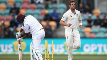James Pattinson bowled Darren Bravo cheaply in the second innings