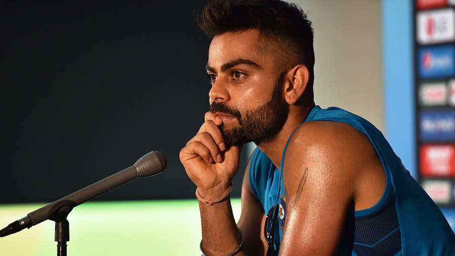 Virat Kohli at a press conference