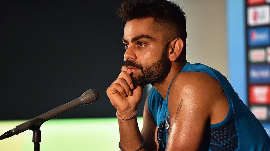 Virat Kohli at a press conference