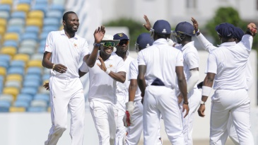 Sulieman Benn took four wickets in the second innings for Barbados