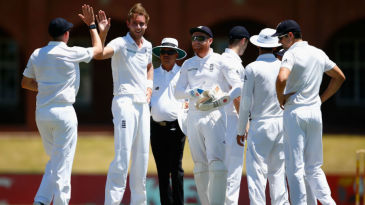 Stuart Broad claimed two wickets with the new ball