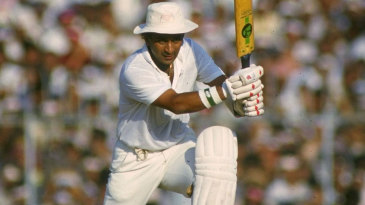 Sunil Gavaskar drives