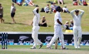 In the groove: Neil Wagner hit Suranga Lakmal's middle stump but the bail didn't fall, New Zealand v Sri Lanka, 2nd Test, Hamilton, 2nd day, December 19, 2015