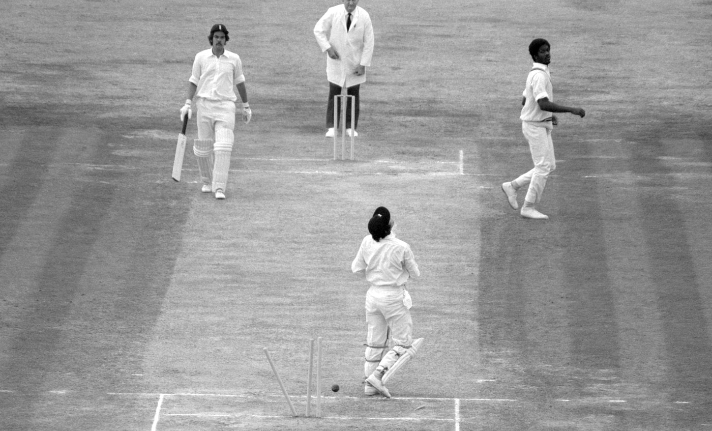 Timber land: nine of Holding's 14 dismissals at The Oval were bowleds