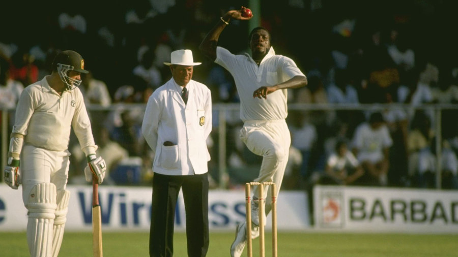 Curtly Ambrose bowls