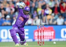 Kumar Sangakkara brings out his cover drive, Hobart Hurricanes v Brisbane Heat, BBL 2015-16, Hobart, Decemeber 22, 2015