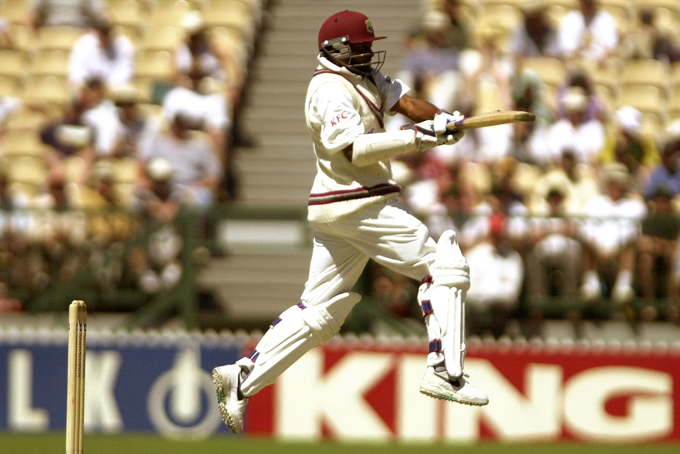 Brian Lara is airborne