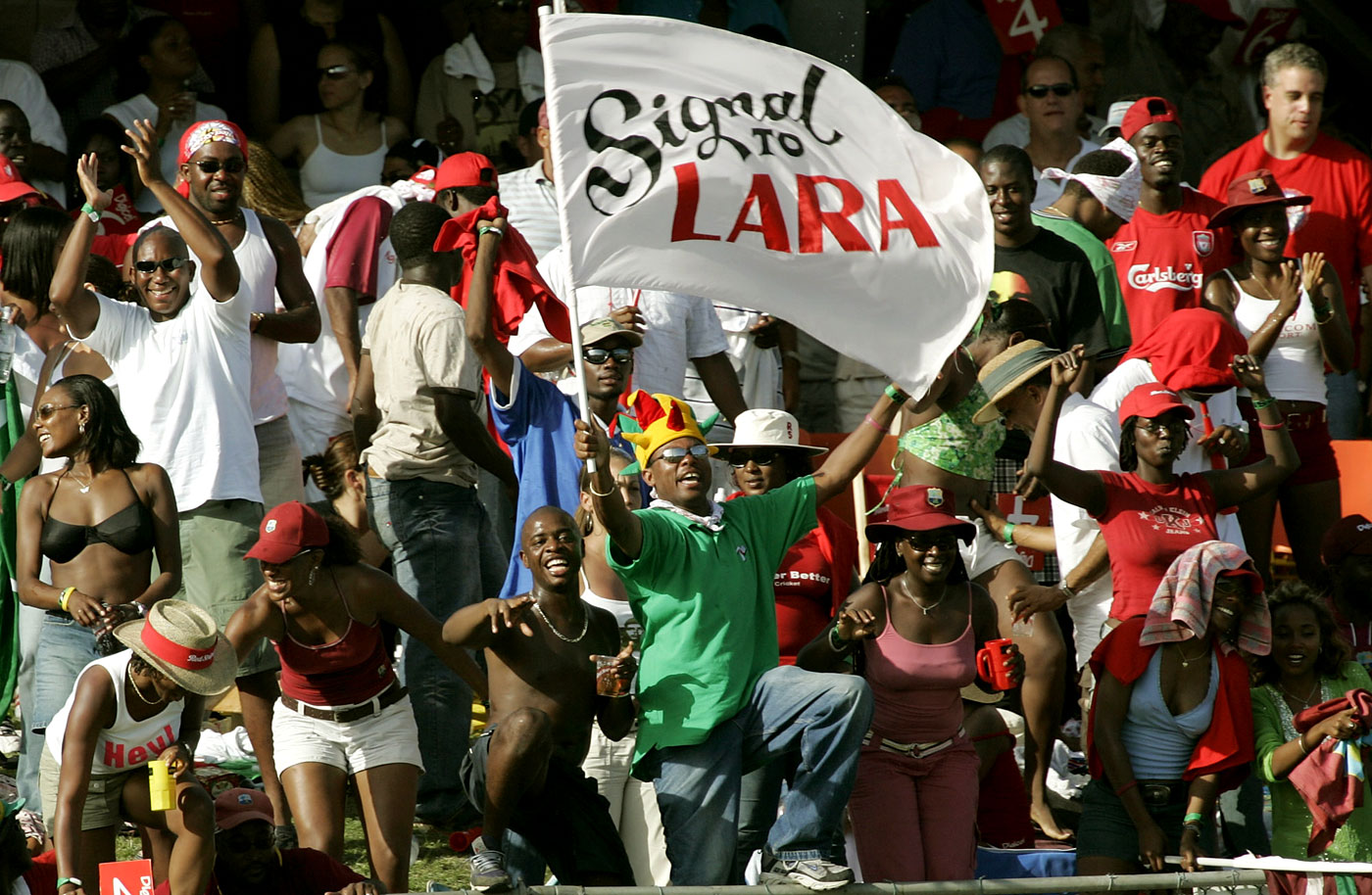 Bajan barracking: the Barbados crowd took a while to warm up to Lara, unimpressed by his decision to send a nightwatchman ahead of himself in both innings