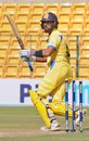 M Vijay targets the leg side during his knock of 33, Tamil Nadu v Uttar Pradesh, Vijay Hazare Trophy, 3rd quarter-final, Bangalore, December 24, 2015