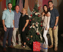 The Marsh family gather around for a picture at a Christmas Day luncheon, Melbourne, December 25, 2015
