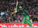 Peter Handscomb clips through the leg side during his 52, Sydney Sixers v Melbourne Stars, BBL 2015-16, Sydney, December 27, 2015